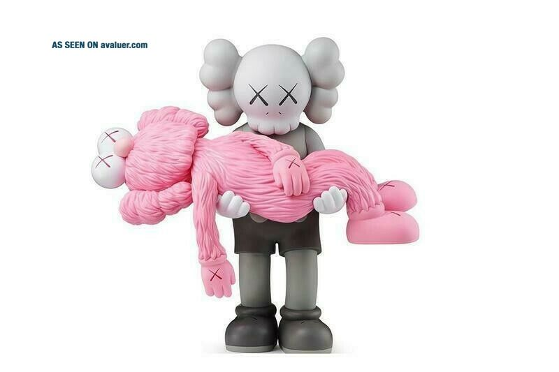 Kaws Gone Companion BFF Vinyl Figure Limited Edition NGV Toy PINK&GREY