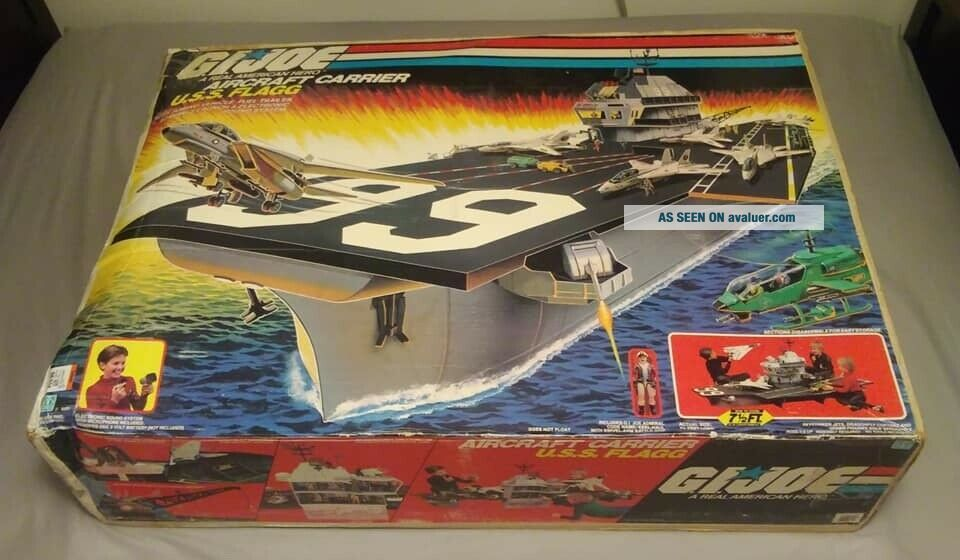 1985 GI Joe USS Flagg Aircraft Carrier Hasbro 100 Complete W/Sealed Accessories
