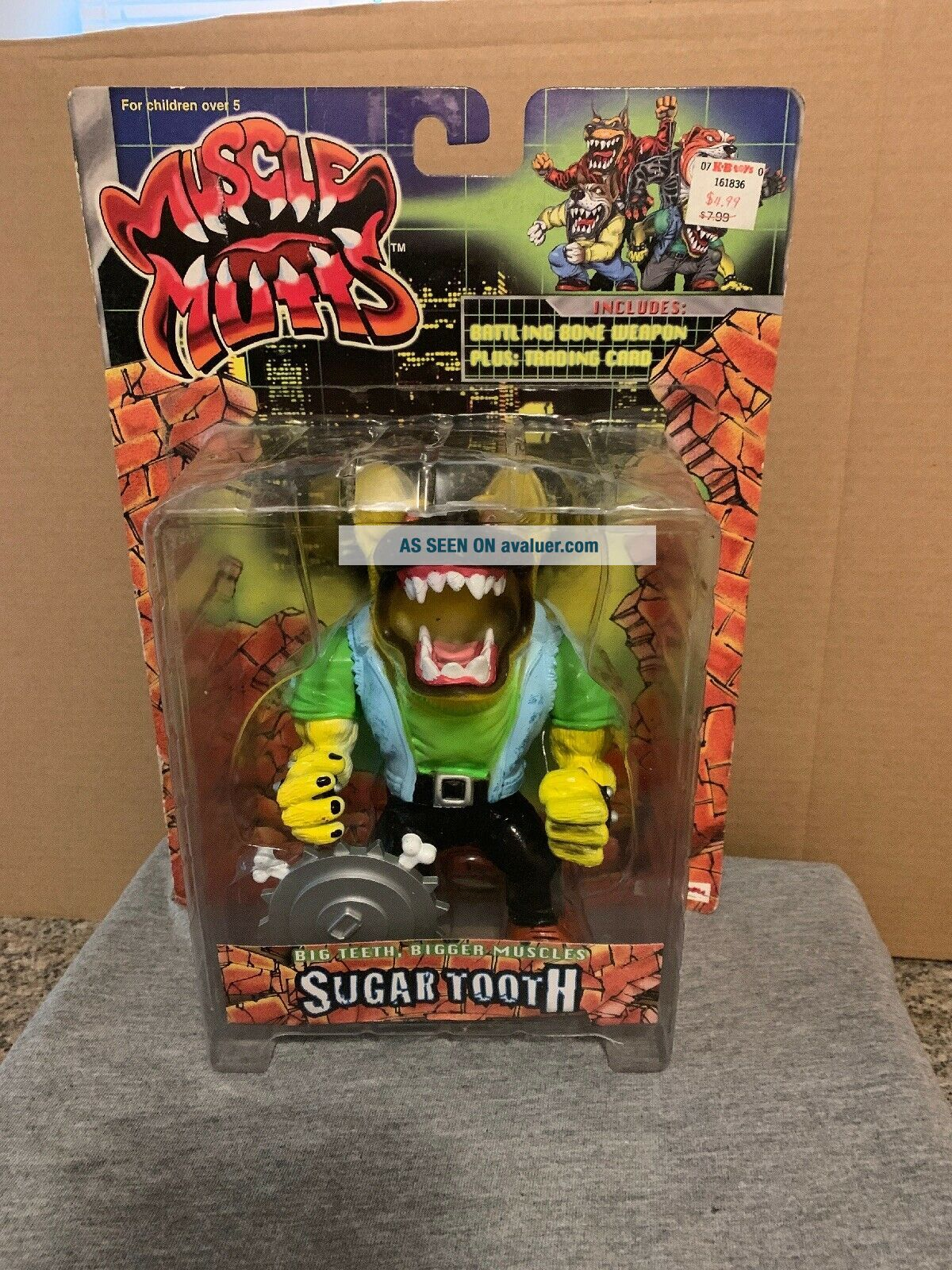 1997 Street Wise Designs Muscle Mutts SUGAR TOOTH Figure RARE Street Sharks