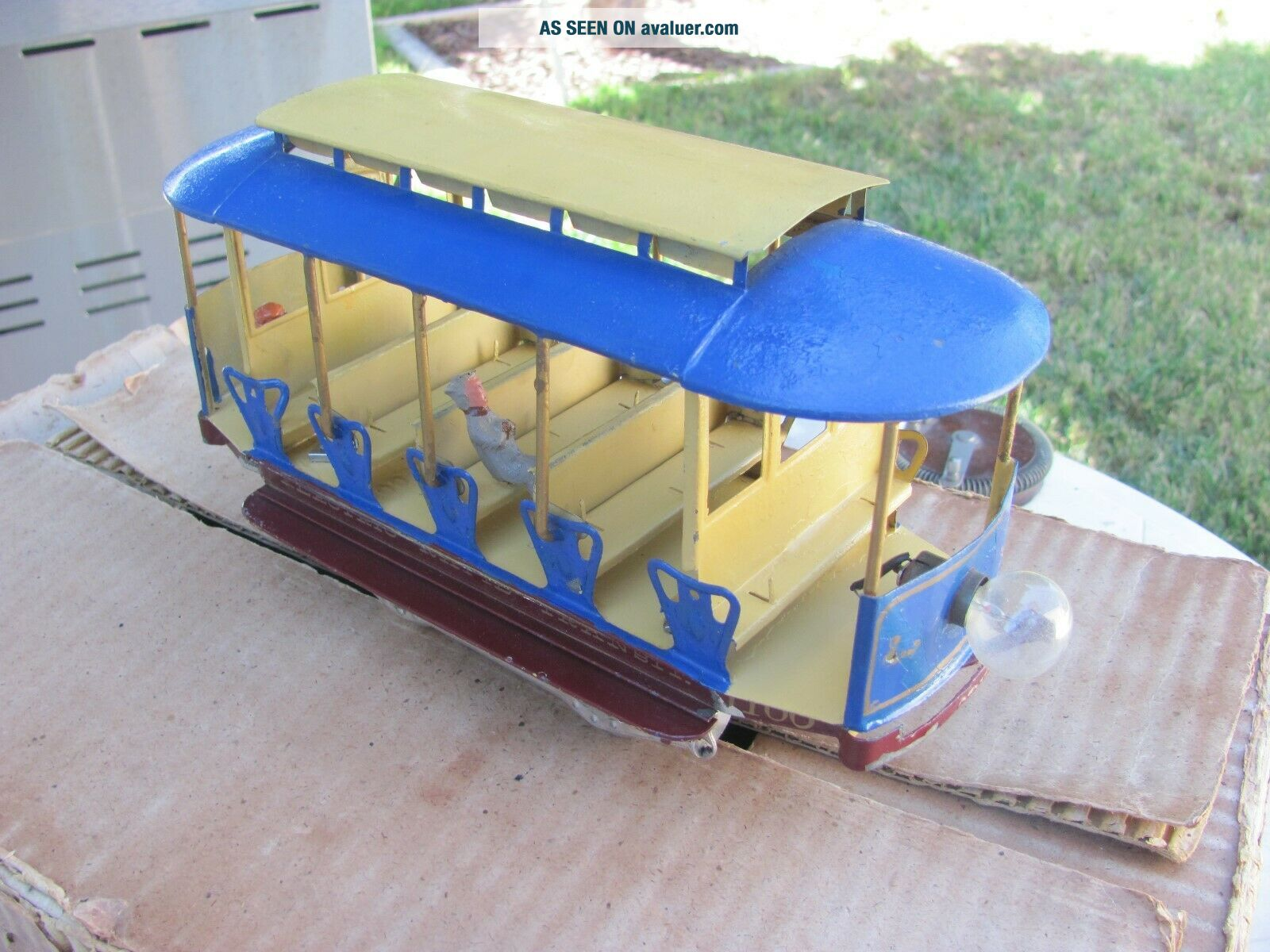 Lionel 1100 Rapid transit Summer trolley Standard and figures 1910?