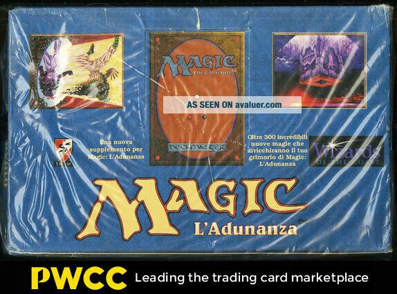 1994 Magic The Gathering MTG Legends Factory Italian Booster Box (PWCC)