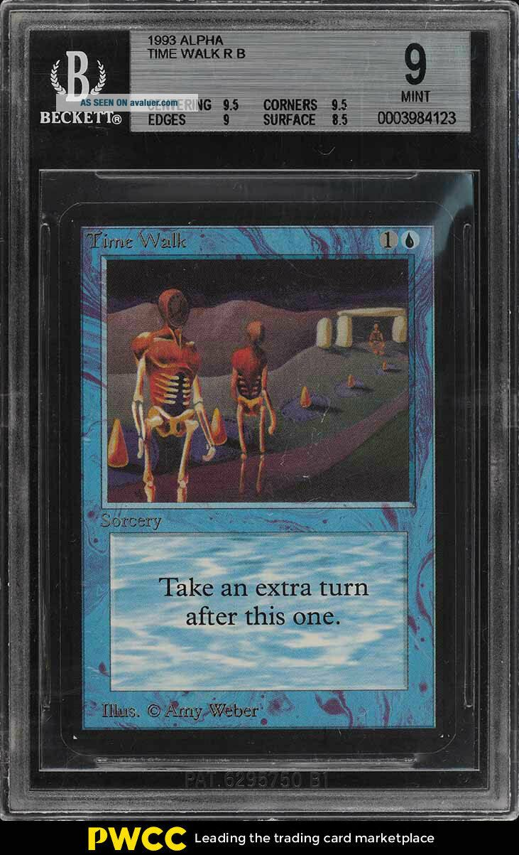 1993 Magic The Gathering MTG Alpha Time Walk R B BGS 9 (PWCC)