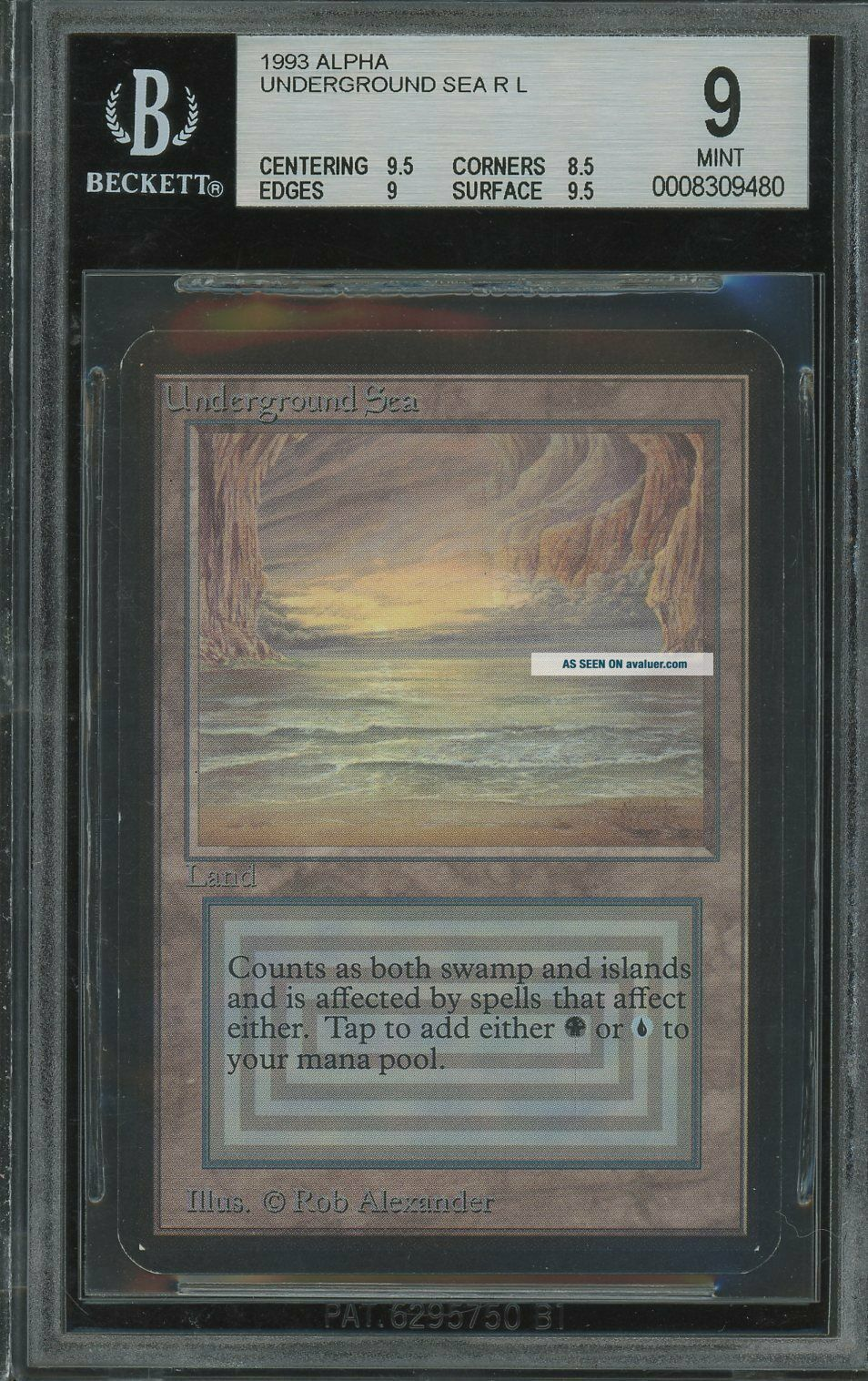 BGS 9.  0 - Alpha 9 - Underground Sea - Magic the Gathering MTG 1993