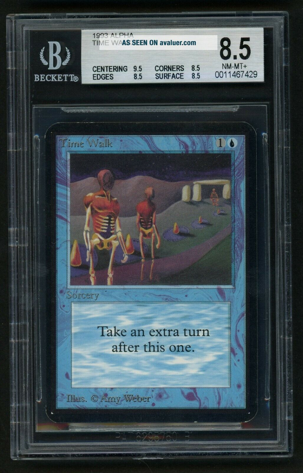 1x BGS 8.  5 Alpha Time Walk (Quad, ) MTG Alpha Power 9 - Kid Icarus -